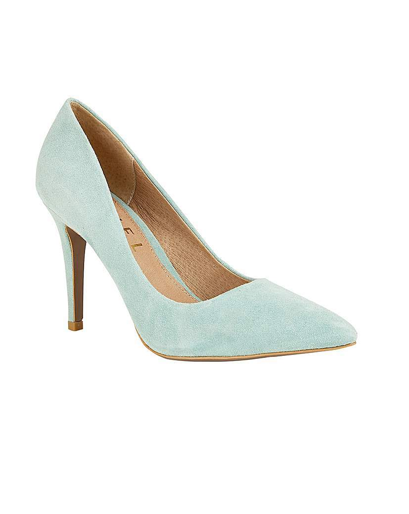 Hamden Ladies Heeled Pumps - predominant colour: pistachio; occasions: evening, occasion, creative work; material: suede; heel height: high; heel: stiletto; toe: pointed toe; style: courts; finish: plain; pattern: plain; season: s/s 2016; wardrobe: highlight