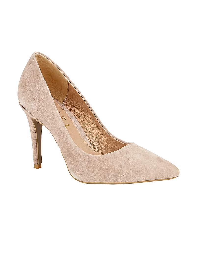 Hamden Ladies Heeled Pumps - predominant colour: nude; occasions: evening, occasion, creative work; material: suede; heel height: high; heel: stiletto; toe: pointed toe; style: courts; finish: plain; pattern: plain; season: s/s 2016; wardrobe: investment
