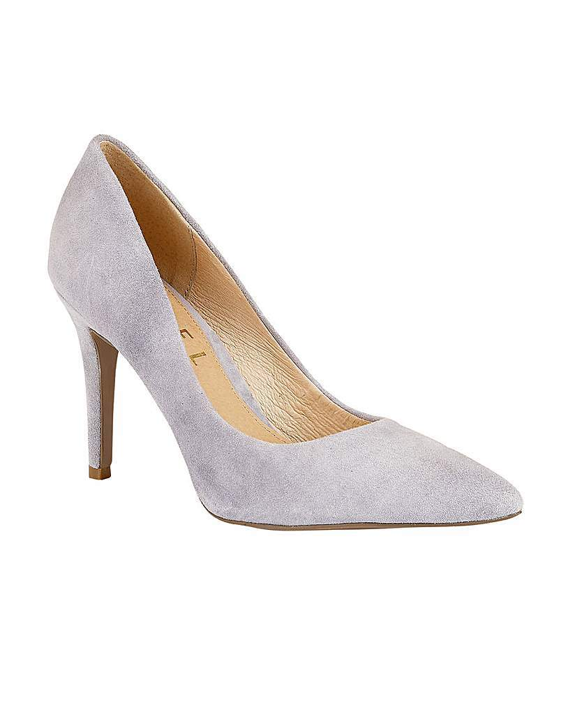 Hamden Ladies Heeled Pumps - predominant colour: light grey; occasions: evening, occasion, creative work; material: suede; heel height: high; heel: stiletto; toe: pointed toe; style: courts; finish: plain; pattern: plain; season: s/s 2016