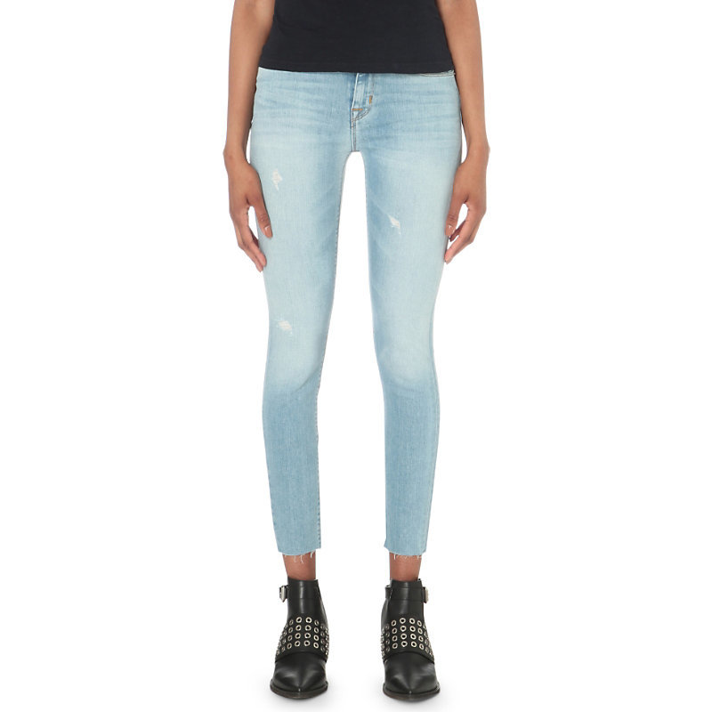Nico Super Skinny Mid Rise Jeans, Women's, Hatchback - style: skinny leg; pattern: plain; pocket detail: traditional 5 pocket; waist: mid/regular rise; predominant colour: pale blue; occasions: casual; length: ankle length; fibres: cotton - stretch; jeans detail: whiskering, washed/faded; texture group: denim; pattern type: fabric; season: s/s 2016; wardrobe: basic
