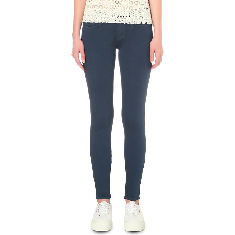 Verdugo Ankle Skinny Mid Rise Jeans, Women's, Insignia Blue - style: skinny leg; length: standard; pattern: plain; pocket detail: traditional 5 pocket; waist: mid/regular rise; predominant colour: navy; occasions: casual; fibres: cotton - stretch; jeans detail: dark wash; texture group: denim; pattern type: fabric; season: s/s 2016; wardrobe: basic