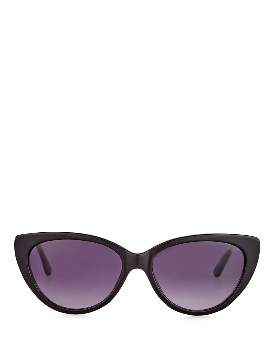Phoebe Polarised Sunglasses - predominant colour: black; occasions: casual, holiday; style: cateye; size: standard; material: plastic/rubber; pattern: plain; finish: plain; season: s/s 2016; wardrobe: basic