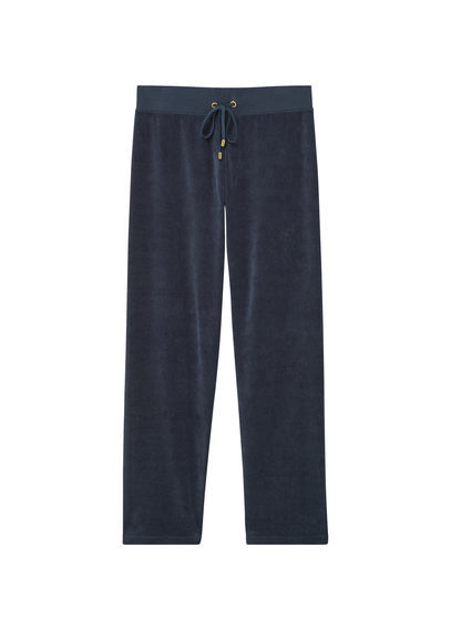 Velvet Patterned Trousers - length: standard; pattern: plain; style: tracksuit pants; waist detail: belted waist/tie at waist/drawstring; waist: mid/regular rise; predominant colour: navy; occasions: casual; fibres: polyester/polyamide - stretch; fit: baggy; pattern type: fabric; texture group: velvet/fabrics with pile; season: s/s 2016; wardrobe: highlight