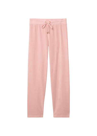 Velvet Patterned Trousers - length: standard; pattern: plain; style: tracksuit pants; waist detail: belted waist/tie at waist/drawstring; waist: mid/regular rise; predominant colour: blush; occasions: casual; fibres: polyester/polyamide - stretch; fit: baggy; pattern type: fabric; texture group: velvet/fabrics with pile; season: s/s 2016; wardrobe: highlight