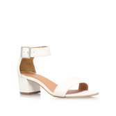 Shadow - predominant colour: white; occasions: casual, holiday; material: leather; heel height: mid; ankle detail: ankle strap; heel: block; toe: open toe/peeptoe; style: standard; finish: plain; pattern: plain; season: s/s 2016; wardrobe: investment