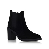 Sicily - predominant colour: black; occasions: casual; material: leather; heel height: mid; heel: block; toe: round toe; boot length: ankle boot; style: standard; finish: plain; pattern: plain; season: s/s 2016; wardrobe: basic