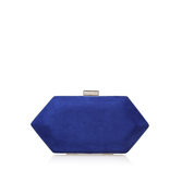 Jewel - predominant colour: royal blue; occasions: evening; type of pattern: standard; style: clutch; length: hand carry; size: small; material: fabric; pattern: plain; finish: plain; season: s/s 2016; wardrobe: event