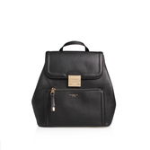Minnie Rucksack - predominant colour: black; occasions: casual; type of pattern: standard; style: rucksack; length: rucksack; size: small; material: leather; pattern: plain; finish: plain; season: s/s 2016; wardrobe: basic