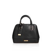 Min Kettle Bag - predominant colour: black; occasions: casual; type of pattern: standard; style: tote; length: handle; size: small; material: leather; pattern: plain; finish: plain; season: s/s 2016; wardrobe: investment
