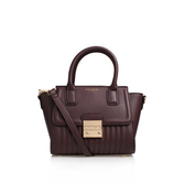 Mel Lock Mini Tote - predominant colour: burgundy; occasions: casual; type of pattern: standard; style: tote; length: across body/long; size: small; material: leather; pattern: plain; finish: plain; season: s/s 2016