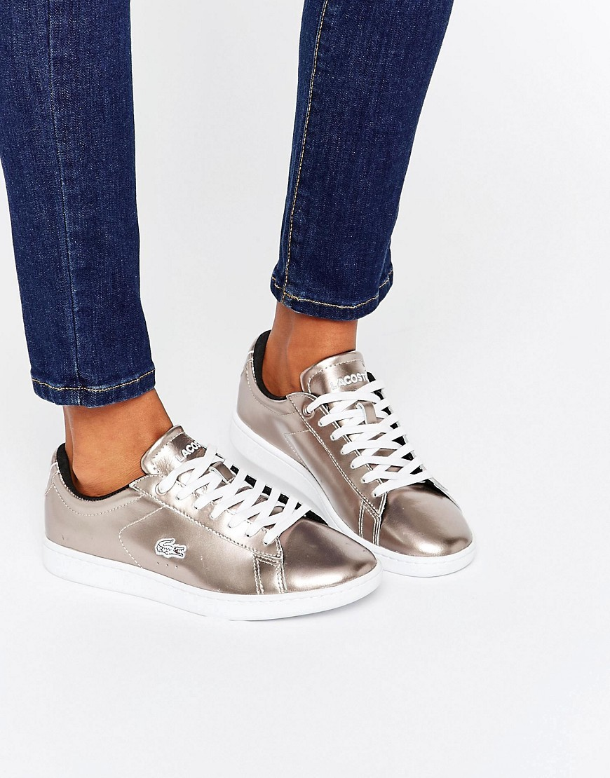 Carnaby Evo Rose Gold Trainers Rose Gold - occasions: casual; material: leather; heel height: flat; toe: round toe; style: trainers; finish: metallic; pattern: plain; predominant colour: pewter; season: s/s 2016; wardrobe: basic