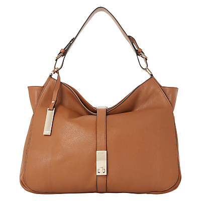 Donnelly Leather Hobo Bag, Tan - predominant colour: tan; occasions: casual, creative work; type of pattern: standard; length: shoulder (tucks under arm); size: standard; material: leather; pattern: plain; finish: plain; style: hobo; season: s/s 2016; wardrobe: highlight