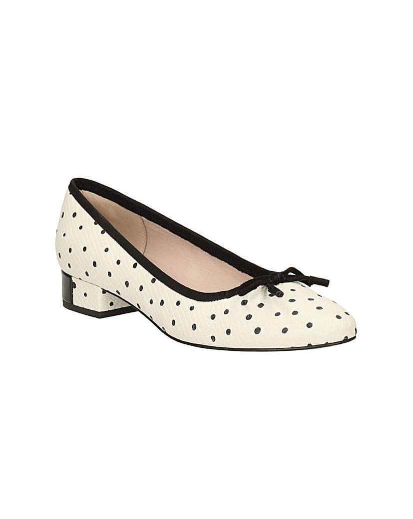 Eliberry Isla Shoes - secondary colour: ivory/cream; predominant colour: black; material: suede; heel height: mid; heel: block; toe: round toe; style: courts; finish: plain; pattern: polka dot; occasions: creative work; season: s/s 2016