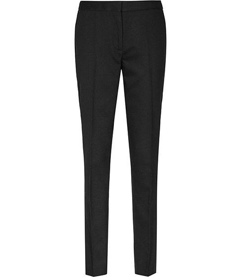 Dartmouth Trouser Textured Tailored Trousers - length: standard; pattern: plain; waist: mid/regular rise; predominant colour: black; occasions: work, creative work; fibres: wool - mix; fit: slim leg; pattern type: fabric; texture group: other - light to midweight; style: standard; season: s/s 2016; wardrobe: basic