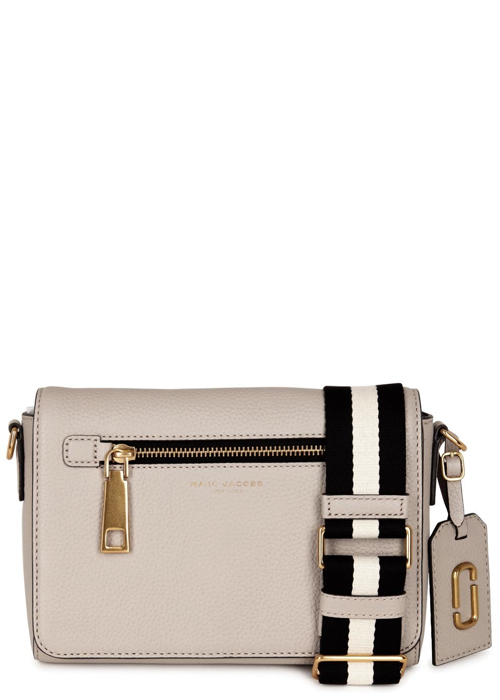 Gotham City Cream Leather Shoulder Bag - predominant colour: ivory/cream; occasions: casual, creative work; type of pattern: standard; style: shoulder; length: across body/long; size: standard; material: leather; pattern: plain; finish: plain; season: s/s 2016; wardrobe: investment