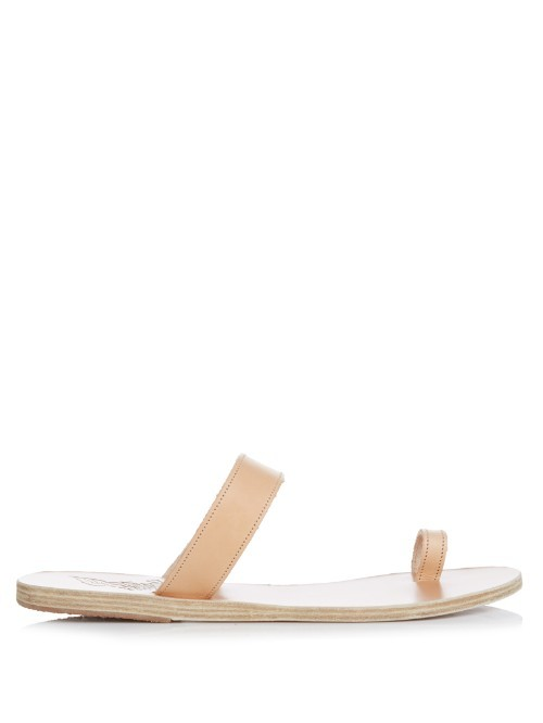 Thalia Leather Sandals - predominant colour: camel; occasions: casual, holiday; material: leather; heel height: flat; heel: standard; toe: toe thongs; style: standard; finish: plain; pattern: plain; season: s/s 2016