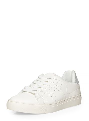Womens **Vero Moda White Trainers White - predominant colour: white; occasions: casual; material: fabric; heel height: flat; toe: round toe; style: trainers; finish: plain; pattern: plain; season: s/s 2016