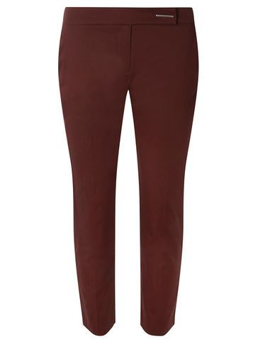 Womens Chocolate Cotton Sateen Cropped Trousers Brown - pattern: plain; waist: mid/regular rise; predominant colour: chocolate brown; length: calf length; fibres: cotton - stretch; fit: slim leg; pattern type: fabric; texture group: woven light midweight; style: standard; occasions: creative work; season: s/s 2016; wardrobe: basic