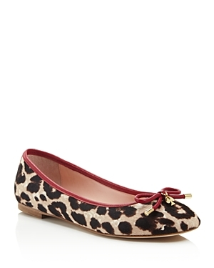 Willa Leopard Print Calf Hair Ballet Flats - predominant colour: ivory/cream; secondary colour: chocolate brown; occasions: casual; material: animal skin; heel height: flat; toe: round toe; style: ballerinas / pumps; finish: plain; pattern: animal print; embellishment: bow; multicoloured: multicoloured; season: s/s 2016; wardrobe: highlight
