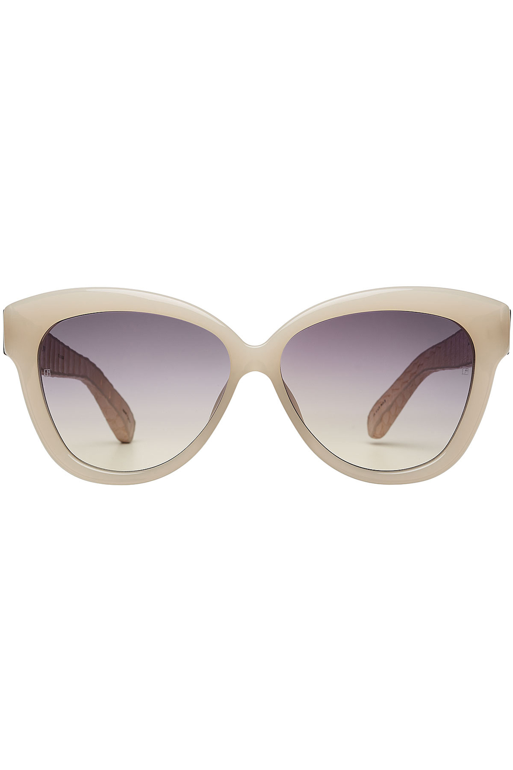 Cat Eye Sunglasses - predominant colour: light grey; occasions: casual, holiday; style: cateye; size: large; material: plastic/rubber; pattern: plain; finish: plain; season: s/s 2016; wardrobe: basic
