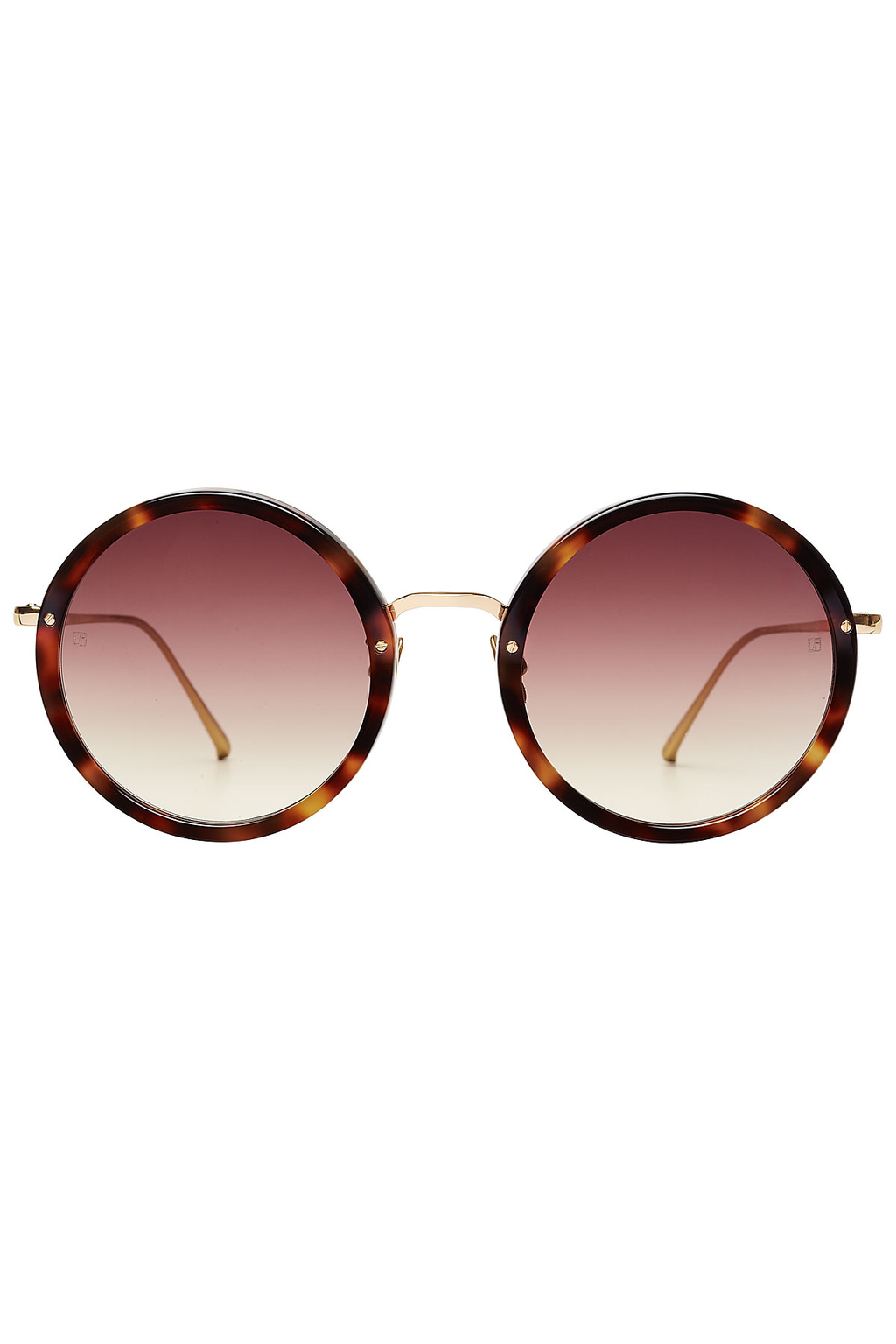 Gold Plated Round Sunglasses Gold - predominant colour: gold; occasions: casual, holiday; style: round; size: standard; material: plastic/rubber; pattern: tortoiseshell; finish: plain; season: s/s 2016