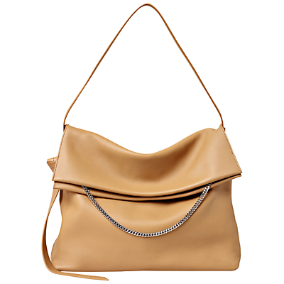 Lafayette Large Shoulder Bag - predominant colour: camel; occasions: casual, creative work; type of pattern: standard; style: shoulder; length: shoulder (tucks under arm); size: standard; material: faux leather; pattern: plain; finish: plain; season: s/s 2016