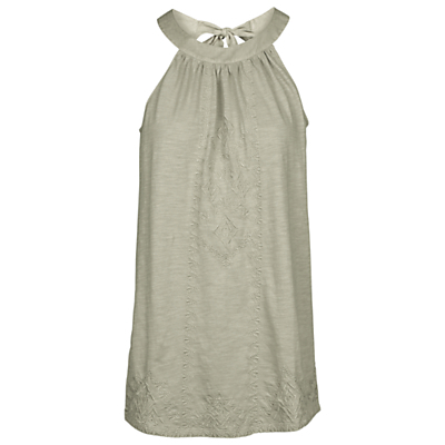 Tilsbury Top - neckline: round neck; pattern: plain; sleeve style: sleeveless; length: below the bottom; style: blouse; predominant colour: khaki; occasions: casual, holiday; fibres: cotton - 100%; fit: straight cut; sleeve length: sleeveless; texture group: cotton feel fabrics; pattern type: fabric; season: s/s 2016; wardrobe: basic