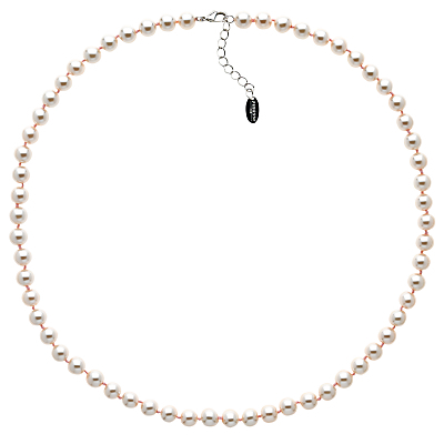 Glass Pearl Necklace - predominant colour: ivory/cream; occasions: occasion; length: short; size: standard; material: chain/metal; finish: metallic; embellishment: pearls; season: s/s 2016; style: bead; wardrobe: event