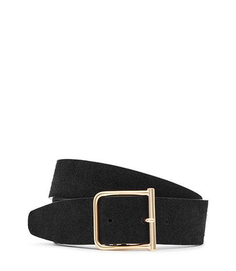 Otis Wide Suede Belt - predominant colour: black; occasions: casual, creative work; type of pattern: standard; style: classic; size: wide; worn on: waist; material: suede; pattern: plain; finish: plain; season: s/s 2016
