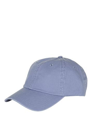 Unstructured Washed Cap - predominant colour: navy; occasions: casual; type of pattern: standard; style: cap; size: standard; material: fabric; pattern: plain; season: s/s 2016