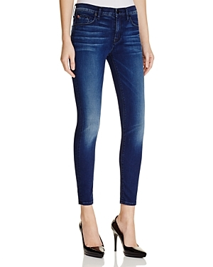 Nico Ankle Jeans In Contrary - style: skinny leg; pattern: plain; waist: high rise; pocket detail: traditional 5 pocket; predominant colour: navy; occasions: casual, evening; length: ankle length; fibres: cotton - stretch; jeans detail: whiskering, shading down centre of thigh; texture group: denim; pattern type: fabric; season: s/s 2016; wardrobe: basic
