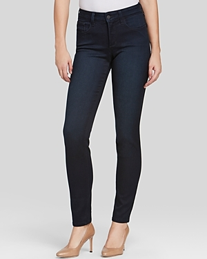 Alina Legging Jeans In Norwell - style: skinny leg; length: standard; pattern: plain; waist: high rise; pocket detail: traditional 5 pocket; predominant colour: navy; occasions: casual, evening; fibres: cotton - stretch; jeans detail: dark wash; texture group: denim; pattern type: fabric; season: s/s 2016; wardrobe: basic