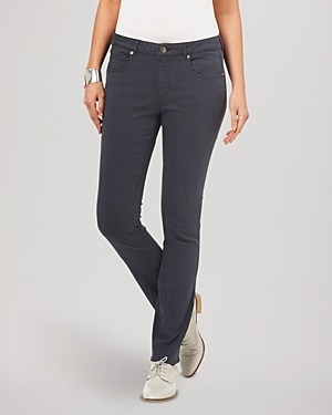 Jeans Lucy Straight Leg In Grey - style: straight leg; length: standard; pattern: plain; pocket detail: traditional 5 pocket; waist: mid/regular rise; predominant colour: navy; occasions: casual; fibres: cotton - stretch; texture group: denim; pattern type: fabric; season: s/s 2016; wardrobe: basic