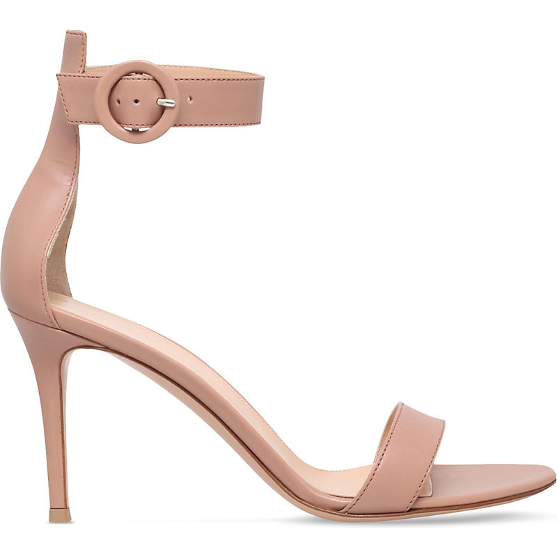 Louis Leather Heeled Sandals, Women's, Eur 38 / 5 Uk Women, Beige - predominant colour: blush; occasions: evening, occasion; material: leather; heel height: high; ankle detail: ankle strap; heel: stiletto; toe: open toe/peeptoe; style: standard; finish: plain; pattern: plain; season: s/s 2016