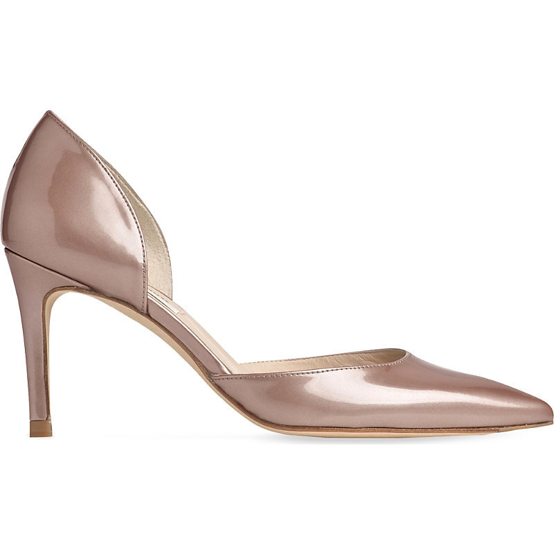 Flossie Leather Courts, Women's, Eur 40 / 7 Uk Women, Cre Champagne - predominant colour: pink; occasions: evening, occasion; material: leather; heel height: high; heel: stiletto; toe: pointed toe; style: courts; finish: metallic; pattern: plain; season: s/s 2016; wardrobe: event