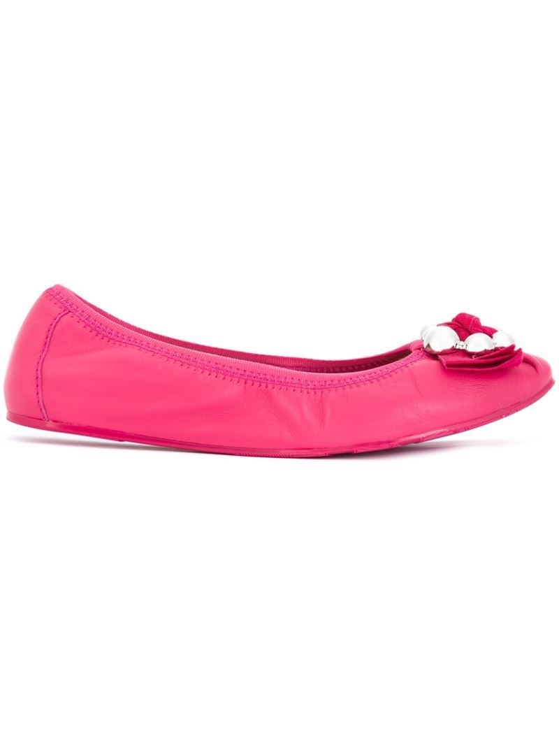 'fiffy' Ballerinas, Women's, Pink/Purple - predominant colour: hot pink; occasions: casual; material: leather; heel height: flat; toe: round toe; style: ballerinas / pumps; finish: plain; pattern: plain; season: s/s 2016; wardrobe: highlight