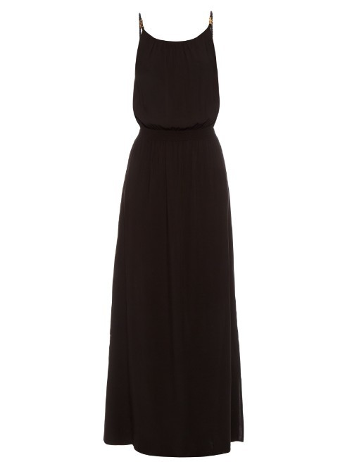 Manhattan Drop Waist Maxi Dress - neckline: round neck; pattern: plain; sleeve style: sleeveless; style: maxi dress; predominant colour: black; occasions: evening; length: floor length; fit: body skimming; fibres: viscose/rayon - 100%; sleeve length: sleeveless; pattern type: fabric; texture group: jersey - stretchy/drapey; season: s/s 2016; wardrobe: event