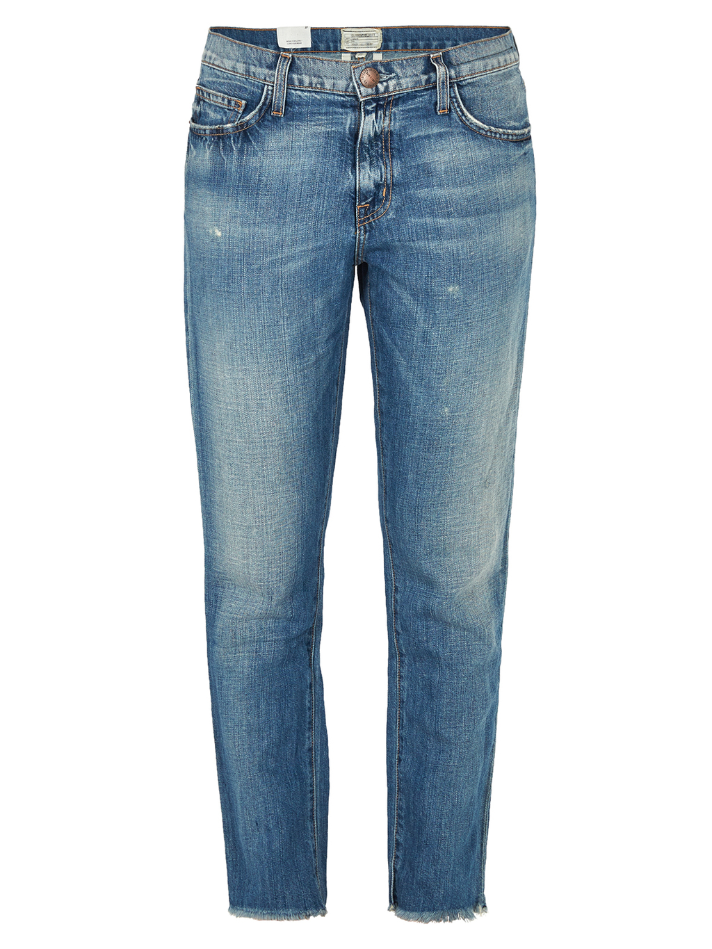 Unrolled Fling Jean - style: straight leg; length: standard; pattern: plain; pocket detail: traditional 5 pocket; waist: mid/regular rise; predominant colour: denim; occasions: casual; fibres: cotton - stretch; jeans detail: washed/faded; texture group: denim; pattern type: fabric; season: s/s 2016