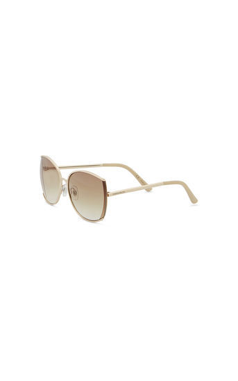 Cutaway Square Frame Sunglasse - predominant colour: stone; style: square; size: large; material: plastic/rubber; pattern: plain; occasions: holiday; finish: plain; season: s/s 2016; wardrobe: basic