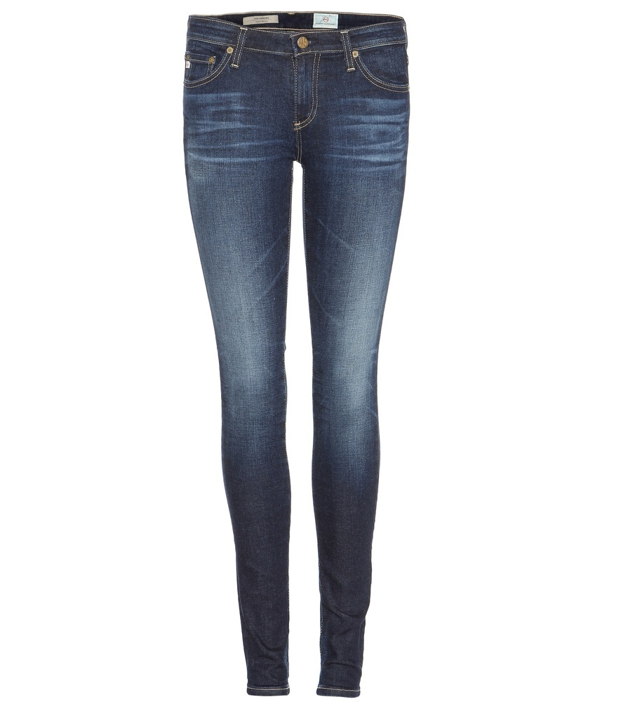 The Legging Skinny Jeans - style: skinny leg; length: standard; pattern: plain; waist: low rise; pocket detail: traditional 5 pocket; predominant colour: navy; occasions: casual; fibres: cotton - stretch; jeans detail: whiskering, washed/faded; texture group: denim; pattern type: fabric; season: s/s 2016; wardrobe: basic