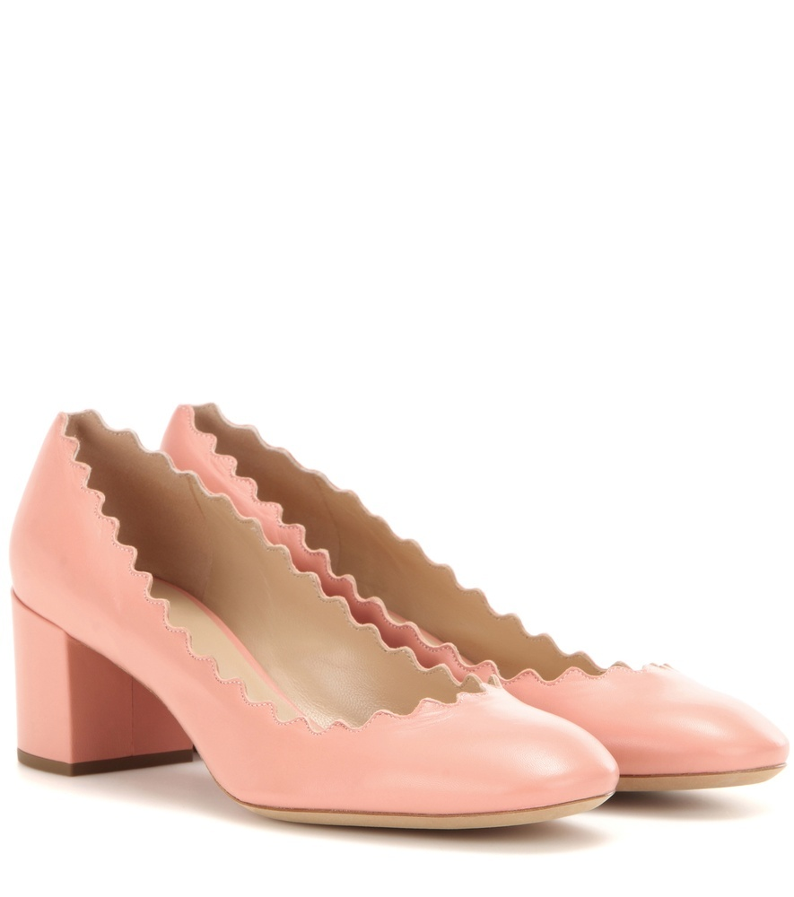 Lauren Leather Pumps - predominant colour: pink; occasions: casual, creative work; material: velvet; heel height: mid; heel: block; toe: round toe; style: courts; finish: plain; pattern: plain; season: s/s 2016; wardrobe: highlight
