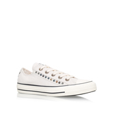 Ct Hardware Eyerow Lw - predominant colour: ivory/cream; occasions: casual; material: fabric; heel height: flat; embellishment: studs; toe: round toe; style: trainers; finish: plain; pattern: plain; season: s/s 2016; wardrobe: basic