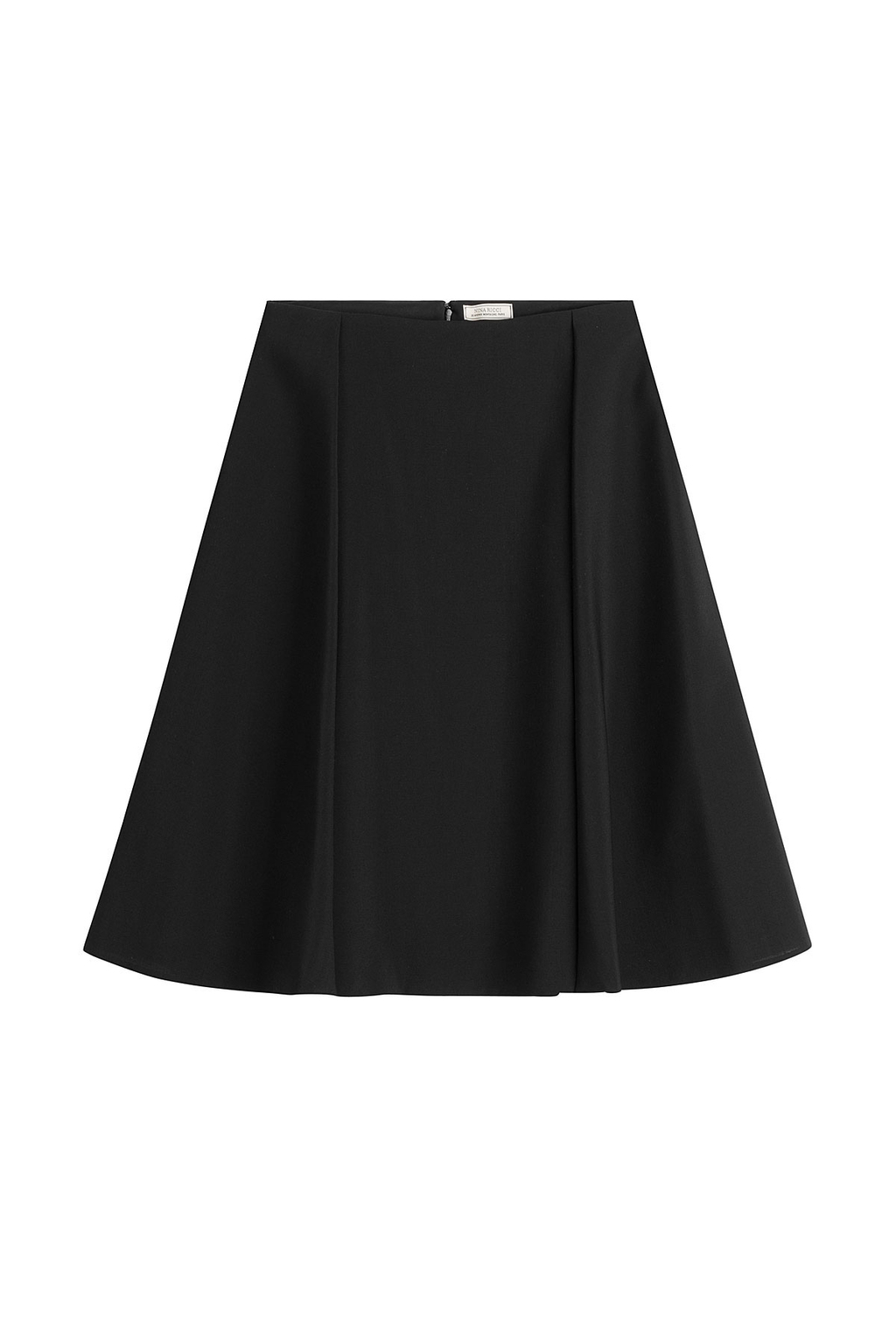 Flared Silk Skirt Black - pattern: plain; fit: loose/voluminous; waist: mid/regular rise; predominant colour: black; occasions: evening; length: just above the knee; style: a-line; fibres: silk - 100%; texture group: silky - light; pattern type: fabric; season: s/s 2016; wardrobe: event