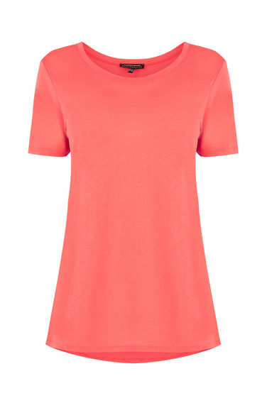 Classic Tee - neckline: round neck; pattern: plain; style: t-shirt; predominant colour: coral; occasions: casual, creative work; length: standard; fibres: cotton - stretch; fit: body skimming; sleeve length: short sleeve; sleeve style: standard; texture group: jersey - clingy; pattern type: fabric; season: s/s 2016; wardrobe: highlight