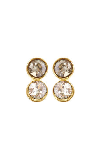 Tiny Stud Earrings - predominant colour: gold; occasions: evening, occasion; style: drop; length: mid; size: standard; material: chain/metal; fastening: pierced; finish: metallic; embellishment: crystals/glass; secondary colour: clear; season: s/s 2016; wardrobe: event
