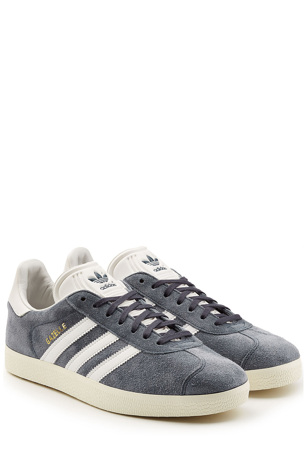 Suede Gazelle Sneakers Blue - secondary colour: ivory/cream; predominant colour: mid grey; occasions: casual, creative work; material: suede; heel height: flat; toe: round toe; style: trainers; finish: plain; pattern: plain; shoe detail: moulded soul; season: s/s 2016