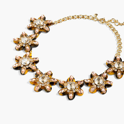 Petal Burst Necklace - predominant colour: gold; occasions: evening, occasion; length: short; size: large/oversized; material: chain/metal; finish: metallic; embellishment: chain/metal; style: bib/statement; season: s/s 2016; wardrobe: event