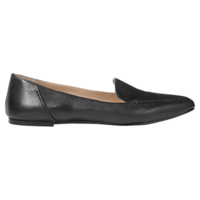 Celeste Pointed Toe Loafers - predominant colour: black; occasions: casual, work, creative work; material: leather; heel height: flat; toe: round toe; style: ballerinas / pumps; finish: plain; pattern: plain; season: s/s 2016; wardrobe: basic
