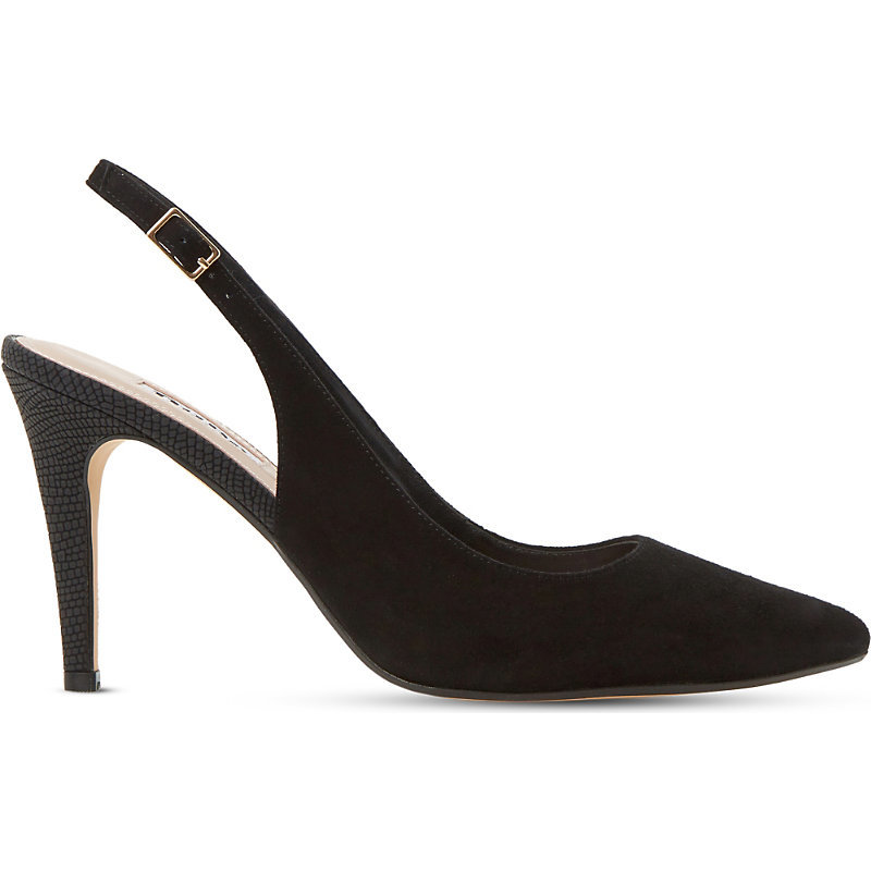 Cathy Suede Slingback Courts, Women's, Eur 41 / 8 Uk Women, Black Suede - predominant colour: black; occasions: occasion, creative work; material: suede; heel height: high; heel: stiletto; toe: pointed toe; style: slingbacks; finish: plain; pattern: plain; season: s/s 2016; wardrobe: investment