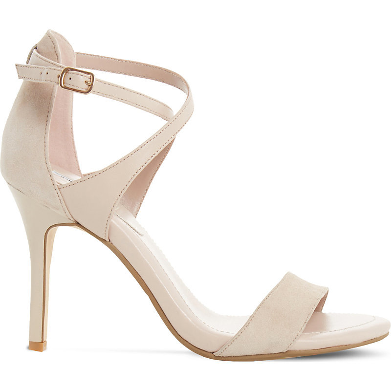 Madeleine Suede Strappy Sandals - predominant colour: nude; occasions: evening, occasion; heel height: high; ankle detail: ankle strap; heel: stiletto; toe: open toe/peeptoe; style: strappy; finish: plain; pattern: plain; material: faux suede; season: s/s 2016; wardrobe: event